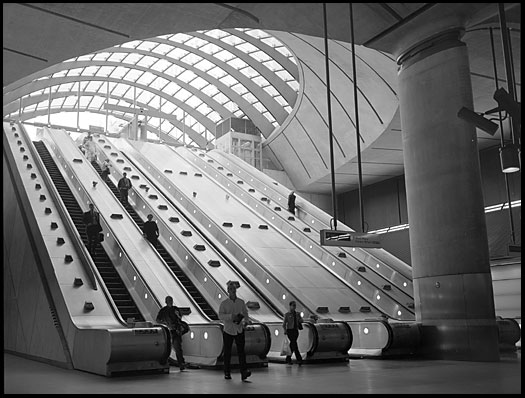 Canary Wharf tube station, London
