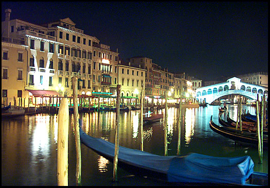 The Grand Canal and Rialto Bridge at
