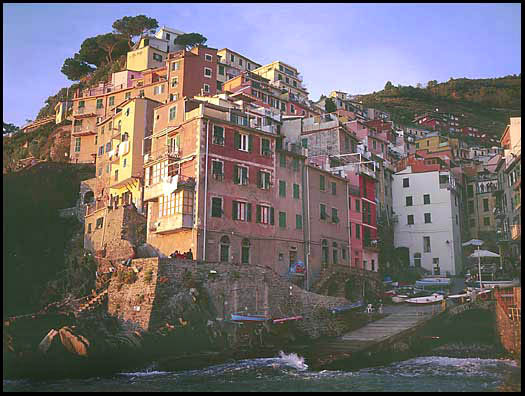 The harbor of Riomaggiore, Italy
