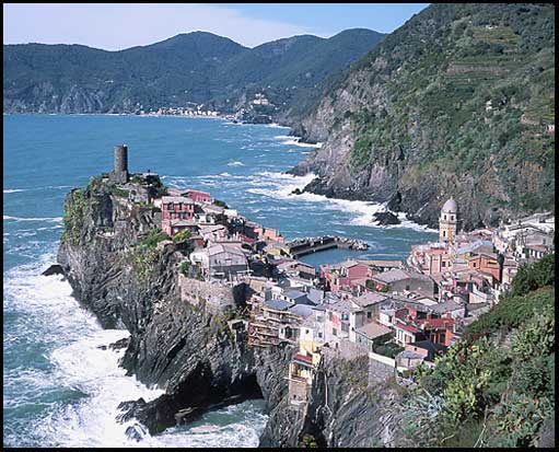 Vernazza, seen from the trail